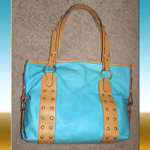 NEW Hype large Leather Shoulder Tote bag Studded